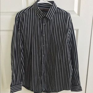 Perry Ellis black button down shirt
